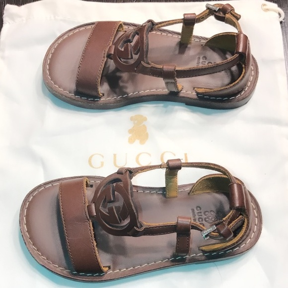ab15469fb Gucci Shoes | Authentic Signature Leather Baby Sandals 7 | Poshmark